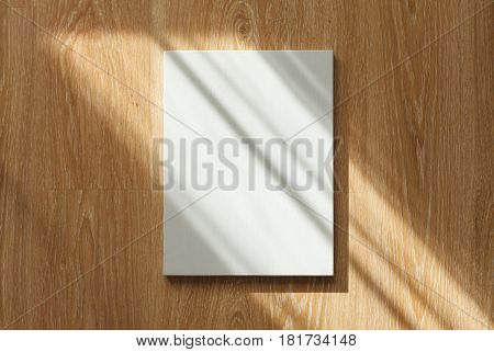 Blank Canvas On Wooden Wall