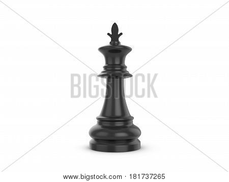 Chess king on a white background. 3d illustration.