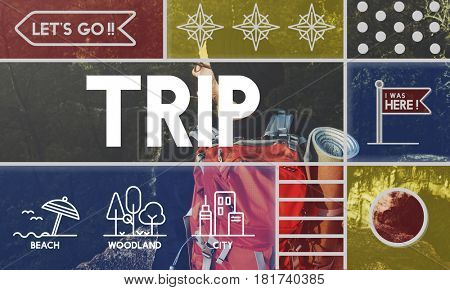 Holiday trip tour itinerary travel graphic
