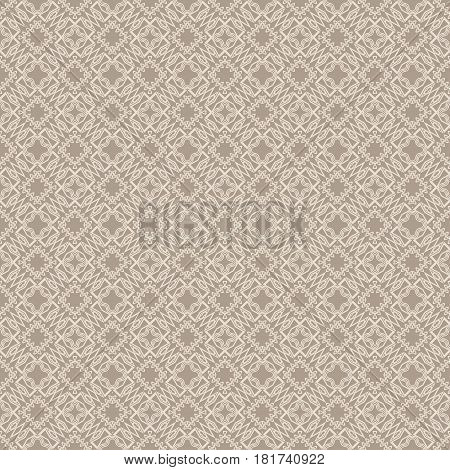 Seamless Sophisticated Geometric Pattern Based On Repetitive Simple Forms. Vector Illustration. For