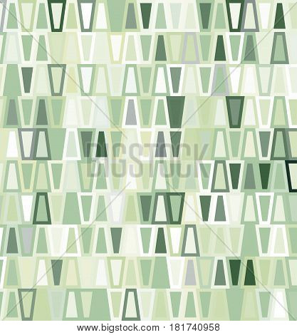 Green geometric seamless trapezoid pattern for design