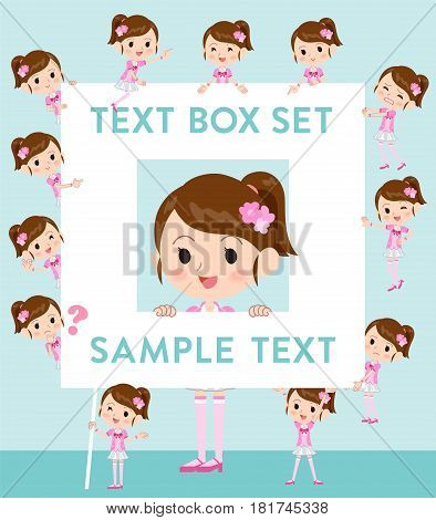 Pop Idol In Pink Costume Text Box