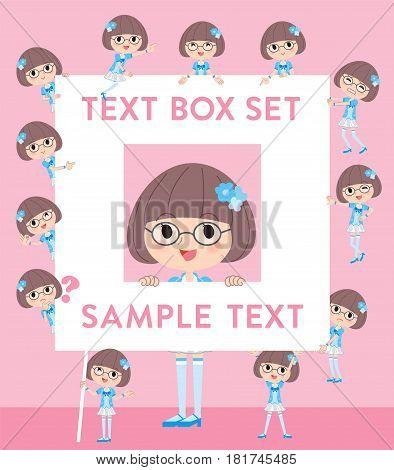 Pop Idol In Blue Costume Text Box