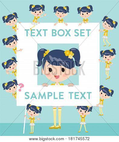Pop Idol In Yellow Costume Text Box