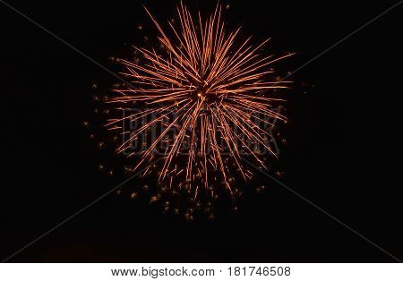 firework blown-up on sky in the night
