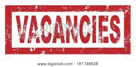Rubber stamp with the text HIRING over a white background