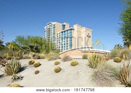 PALM SPRINGS, CA - MARCH 24, 2017: Agua Caliente Casino Resort Spa