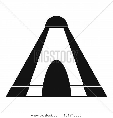 Tepee icon. Simple illustration of tepee vector icon for web