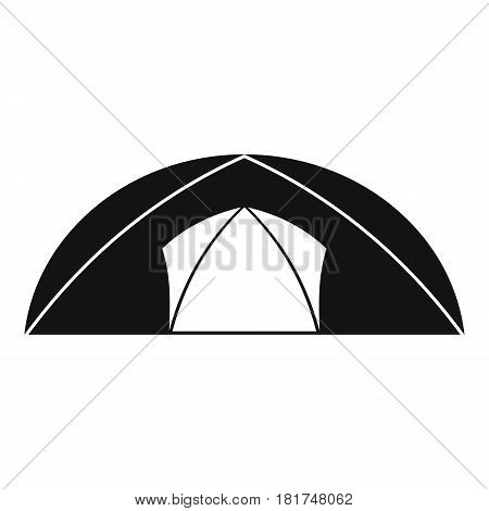 Dome tent for camping icon. Simple illustration of dome tent for camping vector icon for web