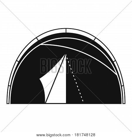 Dome tent icon. Simple illustration of dome tent vector icon for web