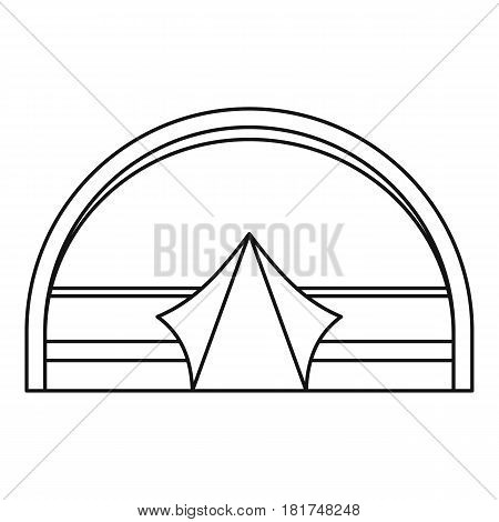 Large dome tent for camping icon. Outline illustration of large dome tent for camping vector icon for web