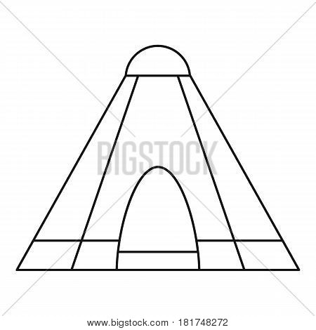 Tepee tent icon. Outline illustration of tepee tent vector icon for web