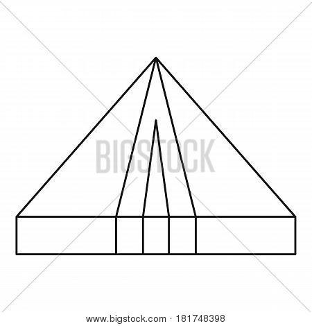 Tourist triangle tent icon. Outline illustration of tourist triangle tent vector icon for web