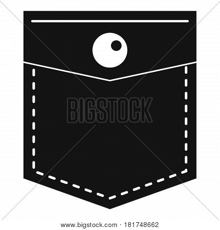 Black pocket symbol icon. Simple illustration of black pocket symbol vector icon for web