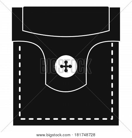 Valve pocket with button icon. Simple illustration of valve pocket with button vector icon for web