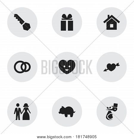 Set Of 9 Editable Folks Icons. Includes Symbols Such As Soul, Gift, Child And More. Can Be Used For Web, Mobile, UI And Infographic Design.
