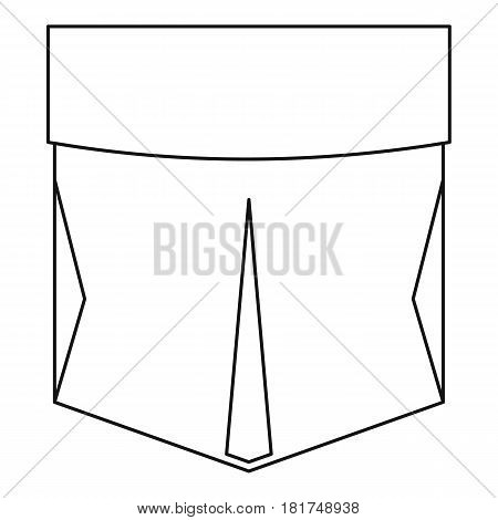 Pocket patch icon. Outline illustration of pocket patch vector icon for web