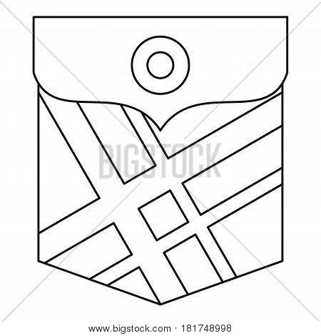 Fashion pocket for shirt icon. Outline illustration of fashion pocket for shirt vector icon for web
