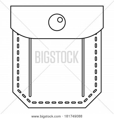 Jeans pocket icon. Outline illustration of jeans pocket vector icon for web