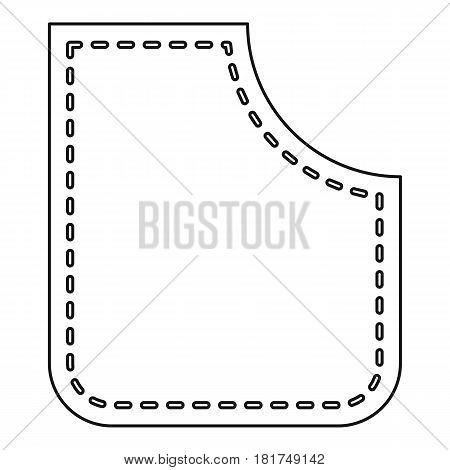 Figured pocket icon. Outline illustration of figured pocket vector icon for web