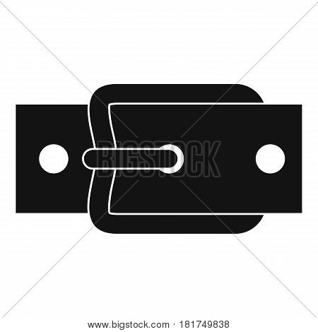 Metal belt buckle icon. Simple illustration of metal belt buckle vector icon for web