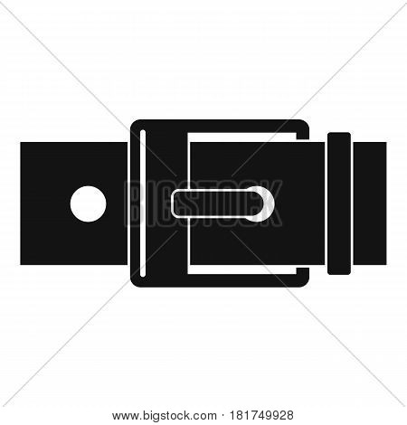 Belt with square buckle icon. Simple illustration of belt with square buckle vector icon for web