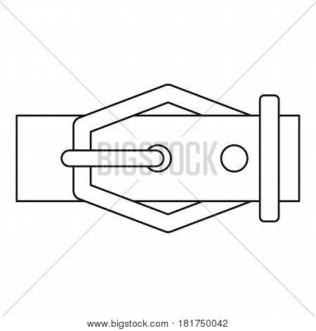 Belt icon. Outline illustration of belt vector icon for web