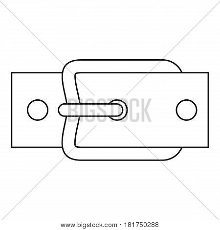 Buckle belt icon. Outline illustration of buckle belt vector icon for web