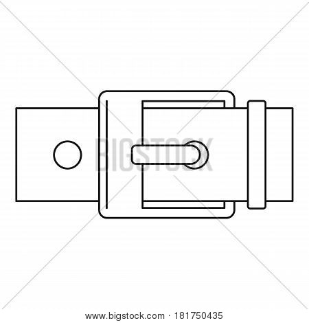 Square buckle icon. Outline illustration of square buckle vector icon for web