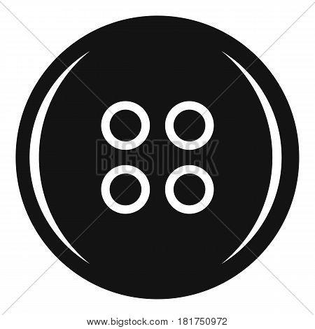 Plastic button icon. Simple illustration of plastic button vector icon for web