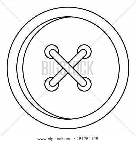 Button for clothing icon. Outline illustration of button for clothing vector icon for web