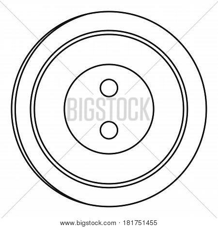 Plastic button icon. Outline illustration of plastic button vector icon for web