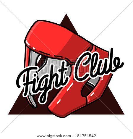 Color vintage fight club emblem, label, badge and design elements. Vector illustration, EPS 10