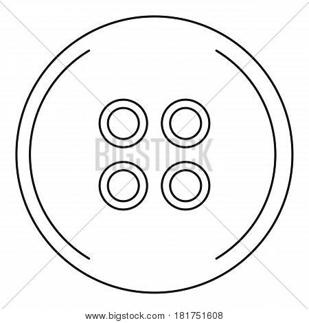 Button for sewing icon. Outline illustration of button for sewing vector icon for web