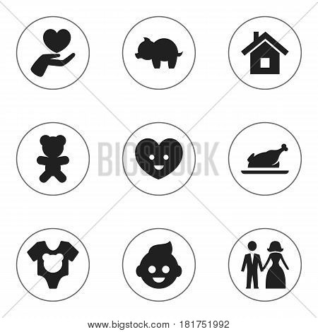 Set Of 9 Editable Folks Icons. Includes Symbols Such As Soul, Toy, Baby And More. Can Be Used For Web, Mobile, UI And Infographic Design.