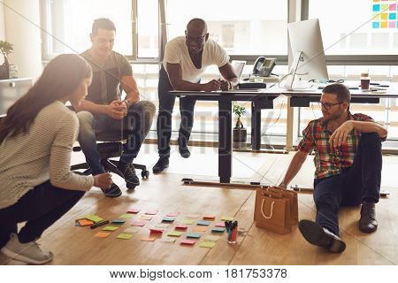 The Entrepreneurs Sitting In Office And Planning