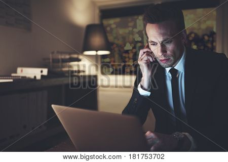 The Office Worker With Smartphone