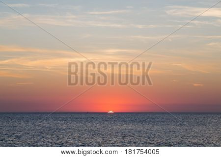 blurred sunset over the ocean for backgrounds