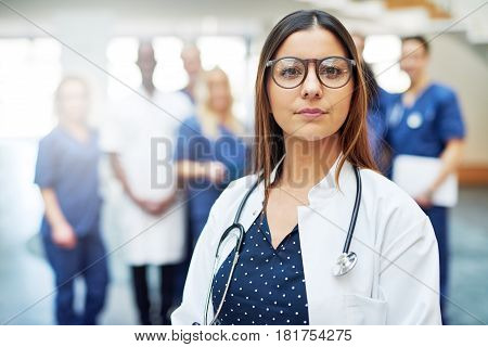 Pensive Female Medical Worker In A Hospital