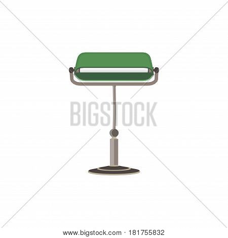 Banker lamp isolated on white background vector