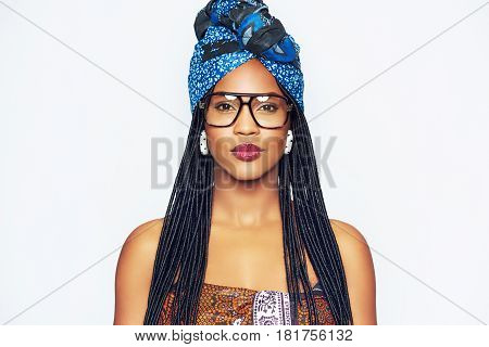 Fashionable Black Woman In Ethnic Clothes