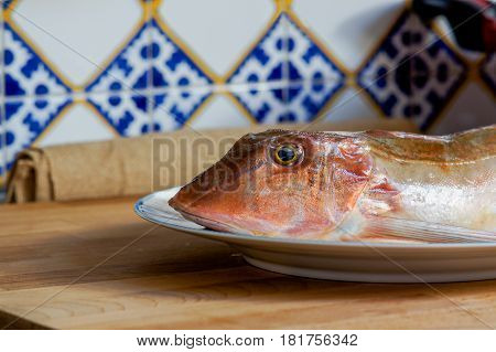 Fresh Fish With Red Scales
