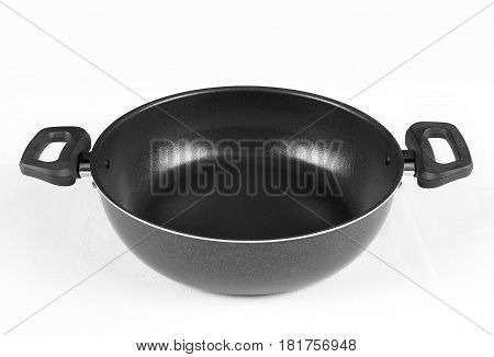 Shallow pot cuisine. Frying pan with two handles