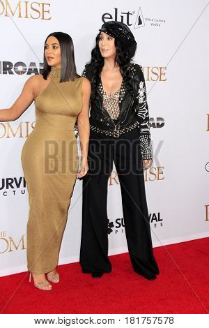 LOS ANGELES - APR 12:  Kim Kardashian, Cher at the