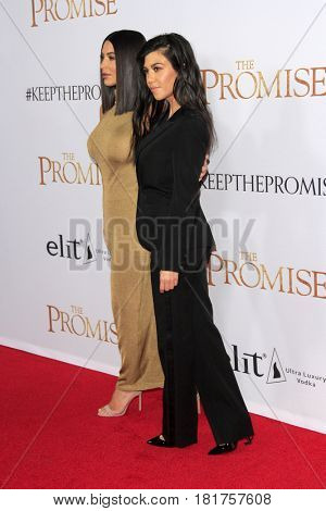 LOS ANGELES - APR 12:  Kim Kardashian, Kourtney Kardashian at the