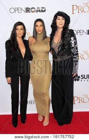 LOS ANGELES - APR 12:  Kourtney Kardashian, Cher, Kim Kardashian at the