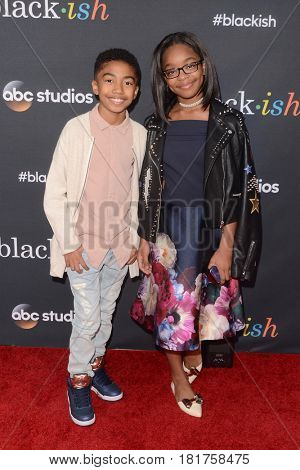 LOS ANGELES - APR 12:  Miles Brown, Marsai Martin at the