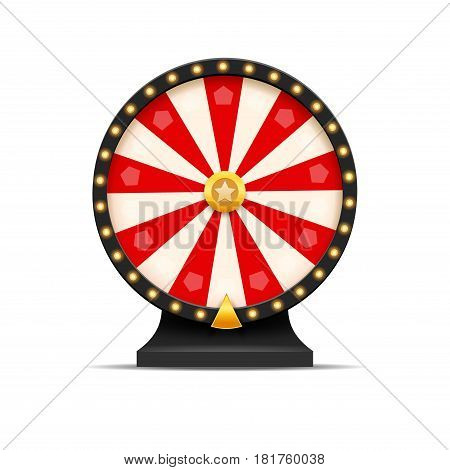 Wheel Of Fortune lottery luck illustration. Casino game of chance. Win fortune roulette. Gamble chance leisure.