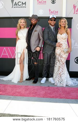 LAS VEGAS - APR 2:  Locash, Kristen White, Preston Brust, Chris Lucas, Kaitlyn Lucas at the Academy of Country Music Awards 2017 at T-Mobile Arena on April 2, 2017 in Las Vegas, NV