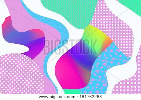 Geometric vector backgrounds. Materia Modernl Design. Use for posters, covers, flyers, postcards, banner designs. Retro Style 90s 80s
